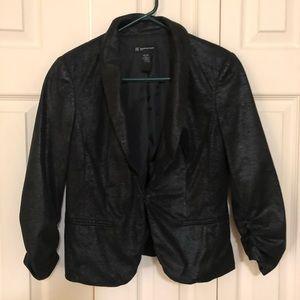 INC Black Shiny Casual Blazer